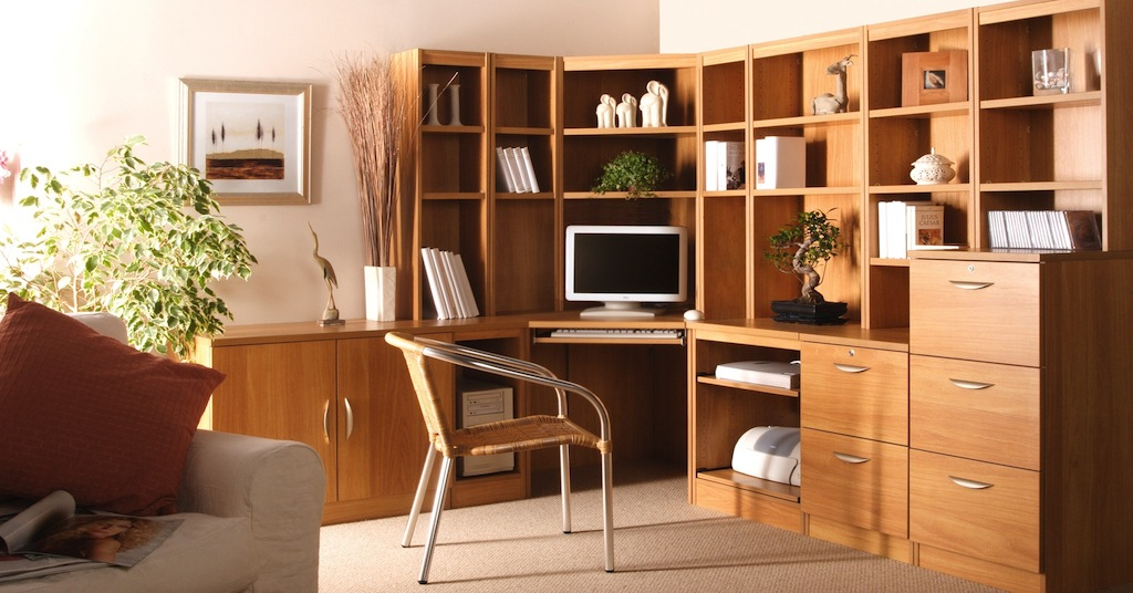 Home office furniture fitted freestanding office kit for Home furniture ideas