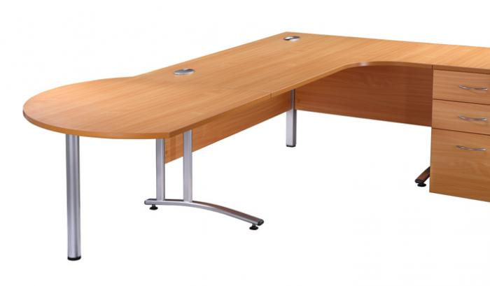 Desk End Meeting Table Office Furniture Office Kit - Desk with meeting table