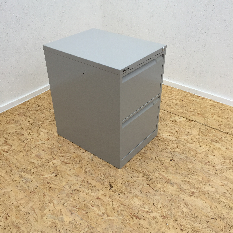 Bisley Metal 2 Drawer Filing Cabinet Office Kit