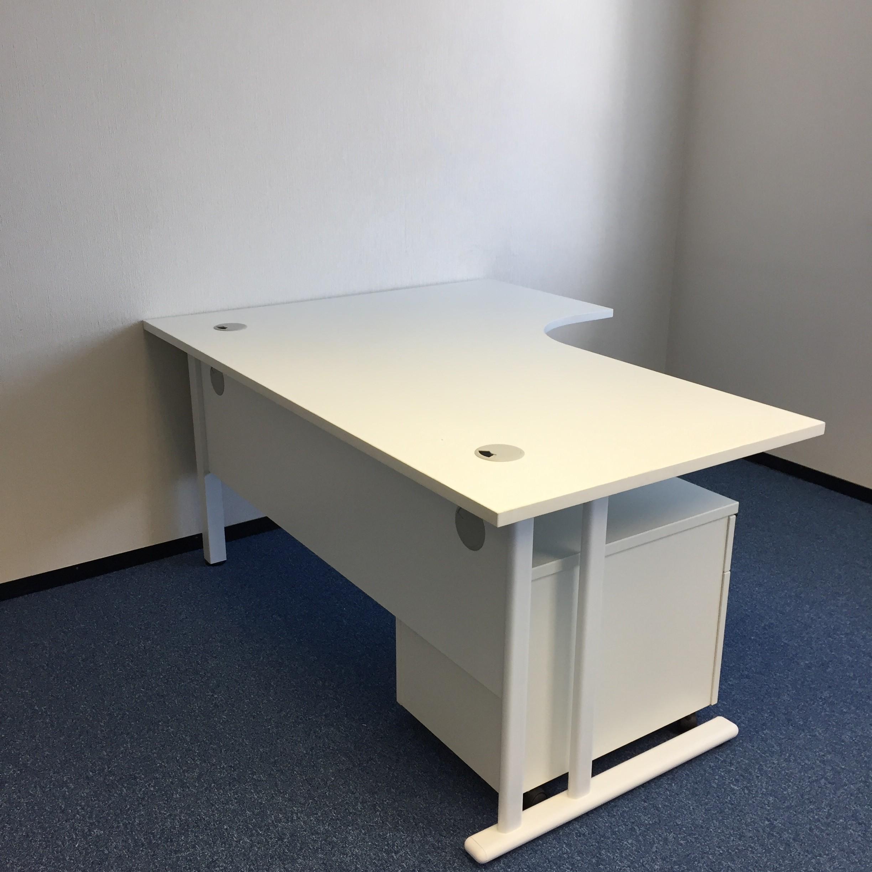 White Corner Desk In Home Second Hand White Corner Desk With Pedestal Office Kit